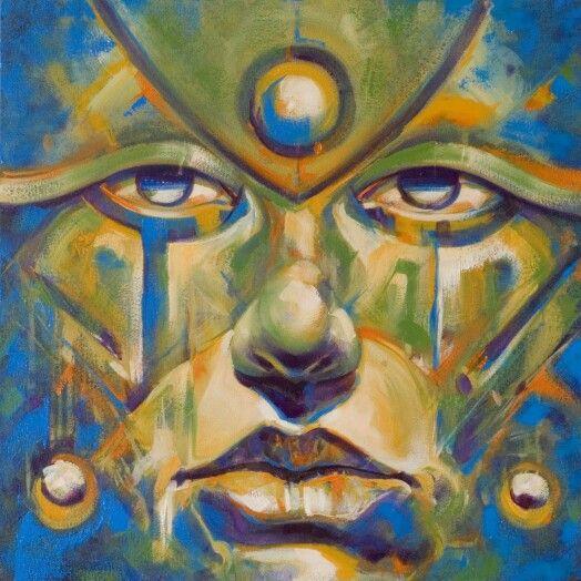"Casi listo... ""The silent weeping of The rainforest""  #artwork #oilpainting #oiloncanvas #contemporaryart #totems #rainforest #amazonas #meditation #robledoarte"