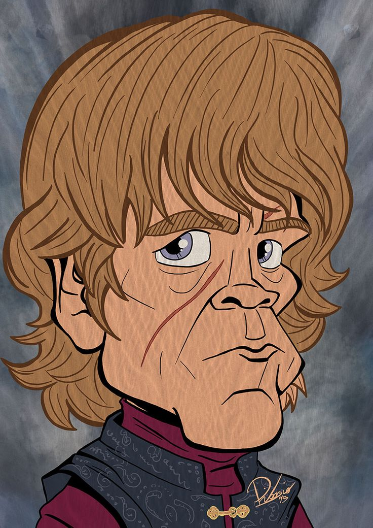 Peter Dinklage as Tyrion Lannister in #gameofthrones - caricature by Ribosio