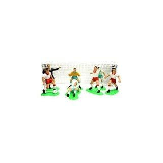 Soccer Boys Party Decoration Cake Kit Includes Soccer Nets And 7 Players