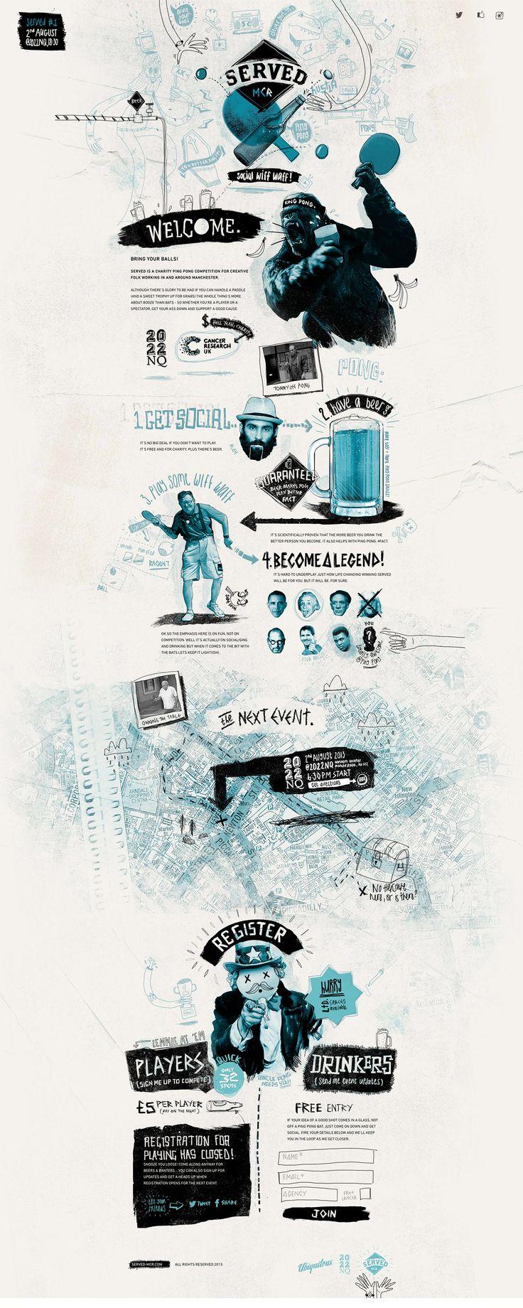 http://www.served-mcr.com/ #webdesign #websitedesign #design #typography #illustrations