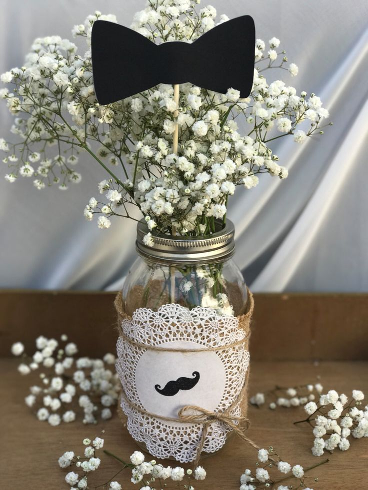Set of 6 - Little man mustache, bowtie, and necktie centerpiece, cake topper, littleman baby shower decorations, 1st birthday by InspiredByDarline on Etsy https://www.etsy.com/listing/488398454/set-of-6-little-man-mustache-bowtie-and