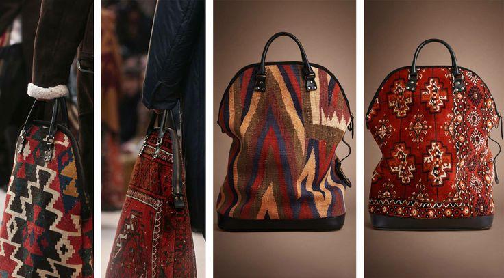 Burberry carpet bags