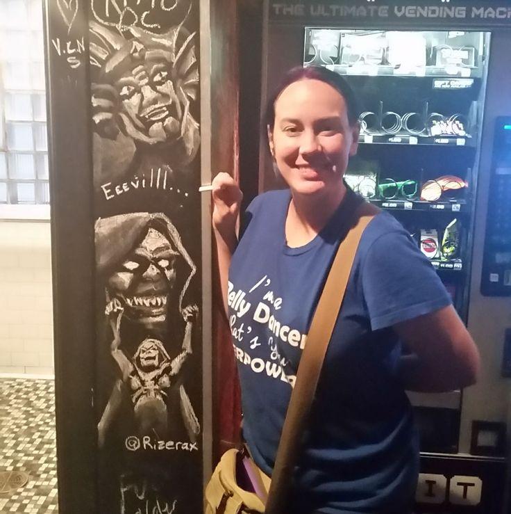 When you're drunk and the wall needs MOAR EEeeeviiillll! #16bitbar #80scartons #skeletor #MOTU #HeMan #He-Man #KingZarkon #voltron #Mum-ra #mumra #thundercats #chalk