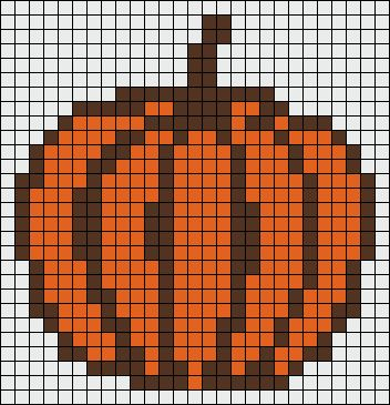 Pumpkin Autumn perler bead pattern