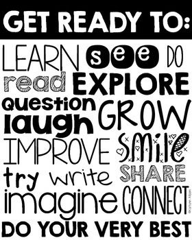 Back to School Poster - Encouraging. Hang this in your classroom or give to each student at the beginning of the new school year. Welcome to First Grade beginning of the year posters included!