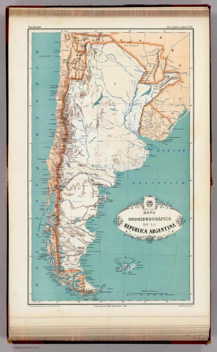Old Map Argentina Antique map 1888 by
