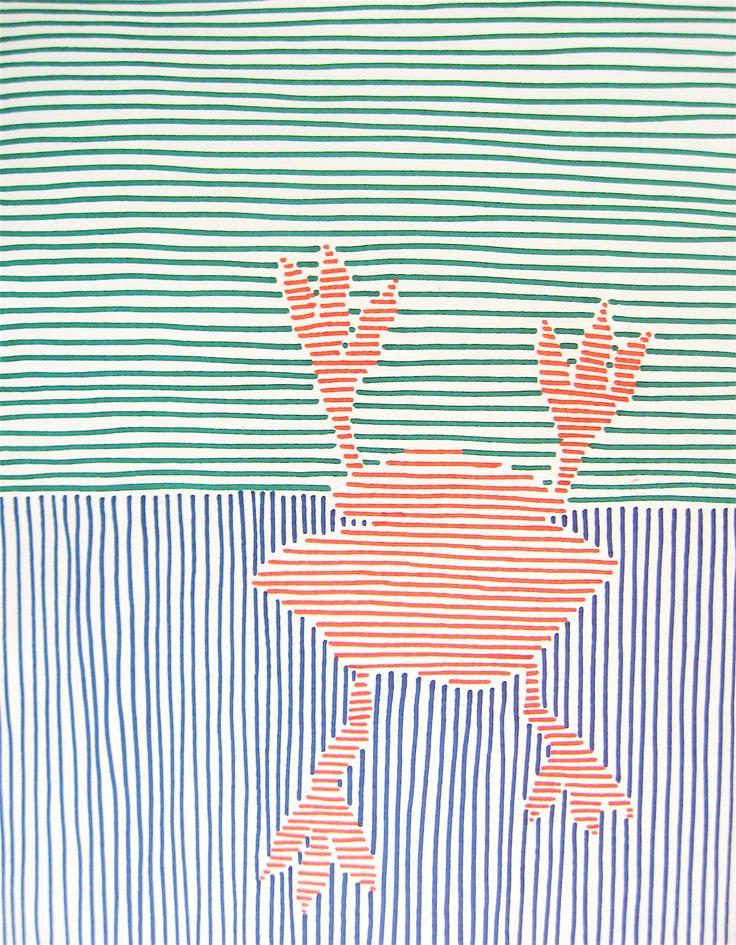 crabbie sharpie line drawing
