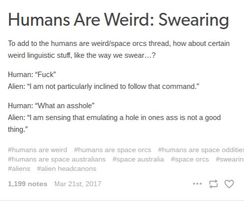 Humans Are Weird/Space Australia Swearing