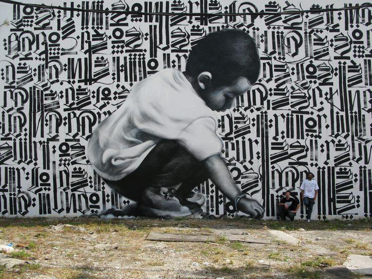 Marvelous Mural Art by El Mac and Retna