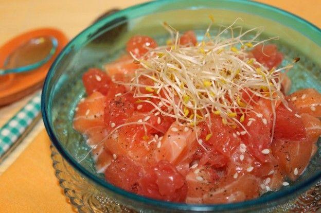 Tartare saumon et agrumes