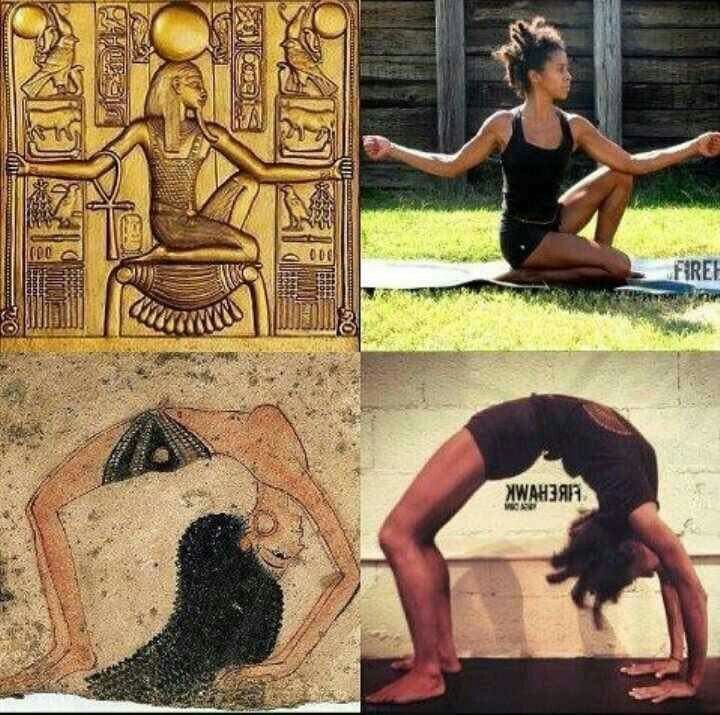 Origins of Yoga It is a little-known fact that Yoga first began in Africa, specifically Kemet (ancient Egypt). Yoga, which means union, is for everybody. I would like to see people of African descent reclaim this ancient holistic practice for themselves and incorporate it into their modern lives. Amun RA Sun Salutation to that.