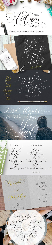 cursive fonts for wedding cards%0A Aidan Romantic Script  Fonts