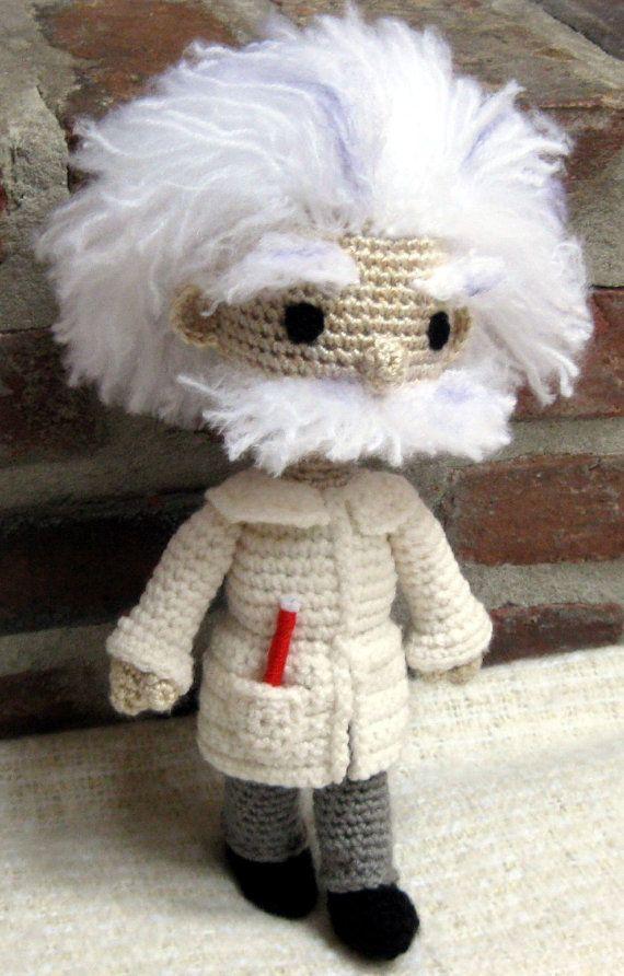 Crocheted Amigurumi Einstein Doll finished by amigurumi4ever