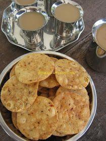 CRISPY MASALA PURI 120 gm flour 100 gm semolina ½ cup water,more or less 1 tsp chili flakes 1 tsp salt ½ tsp...