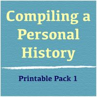 Nicely organized pages to compile a personal history book.