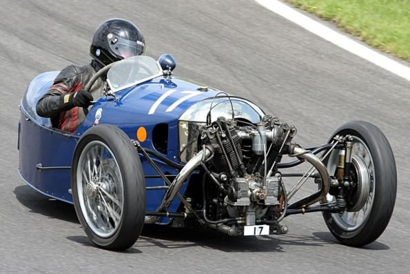Sue Darbyshire Morgan three-wheeler One of the bravest lady racers EVER. Broke her leg, but hacksawed-off her plaster so she could get in the Morgan and compete at the Mont Ventoux hillclimb.