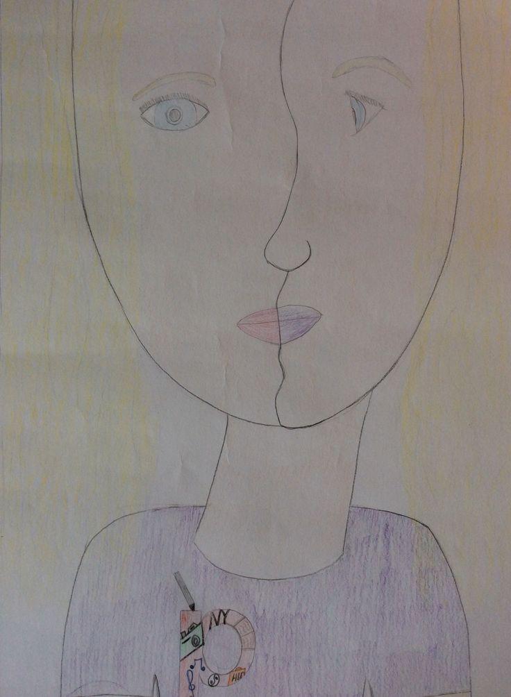 Toen ik de schetsen had gemaakt en het op een groot papier ging tekenen  ging het best wel goed. Maar ik heb veel tijd verloren omdat ik heel lang bezig was met de schetsen. De volgende keer ga ik minder tijd besteden aan de schetsen. Ik vond de opdracht wel leuk maar ik heb leukere opdrachten gedaan.