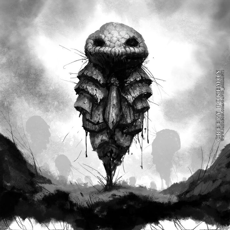 ArtStation - Creepy Pokemon: 014 Kakuna, David Szilagyi
