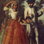 These are the Castas, or Caste system, painting from the Conquest of Mexico. The painting show an admixture to create the present day population. Spanish man and India woman produce mestiza girl.