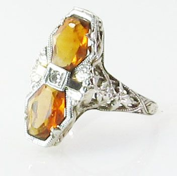 Estate Antique Rings for Sale | offered for sale is a fabulous art nouveau citrine ring crafted ...