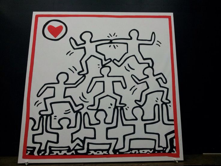 I painted Keith Haring for Il viagio a Reims #dutchopera#