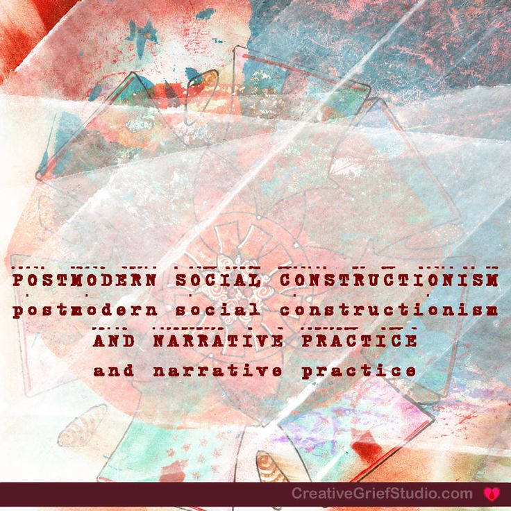 Postmodern Social Constructionism and Narrative Practice have been part of our program from the start, but much of what we offered was implied or referred to in discussion space only. We've now brought materials explicity to the table to show you what underpins our approach.