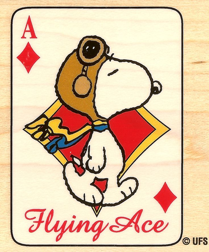 Peanuts Snoopy Flying Ace Wood Mounted Rubber Stamp Stampabilities New   eBay