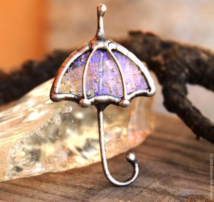 Создаем элегантную брошь «Зонт» в витражной технике - Ярмарка Мастеров - ручная работа, handmade