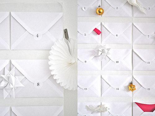 simple envelope Advent calendar