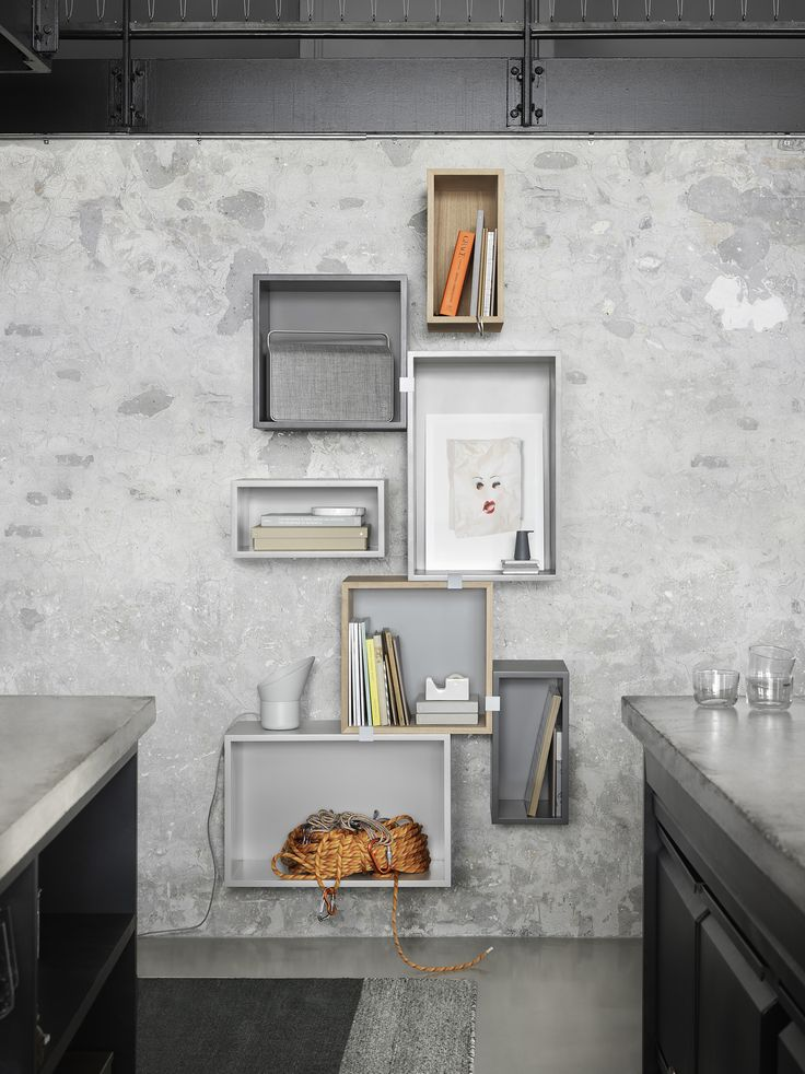 Your kitchen interior should not be overlooked when looking at design. Choose a shelving system to make a sculptural yet functional display on the wall.