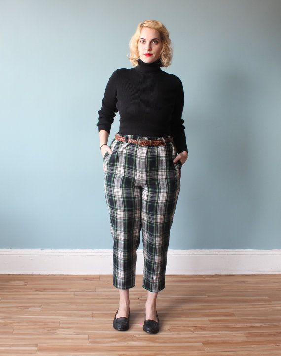 how to wear tartan pants