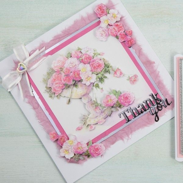 Craft Creations 43 Piece Tumbling Roses Card Kit | The Craft Channel