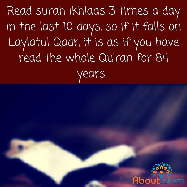Read surah Ikhlaas