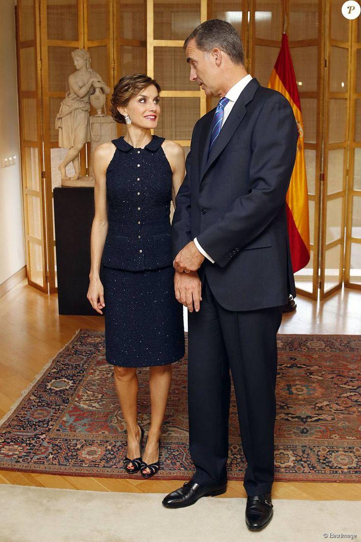 Roi d'Espagne Felipe VI Reine consort d'Espagne Letizia Ortiz Rocasolano