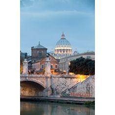 Vatikan, Blick über den Tiber zum Petersdom, Rom, Fotograf: G. Hänel #Fototapeten #Merian #Rom #Italien #Tiber #Petersdom #Wandgestaltung #MerianBildservice #Hänel