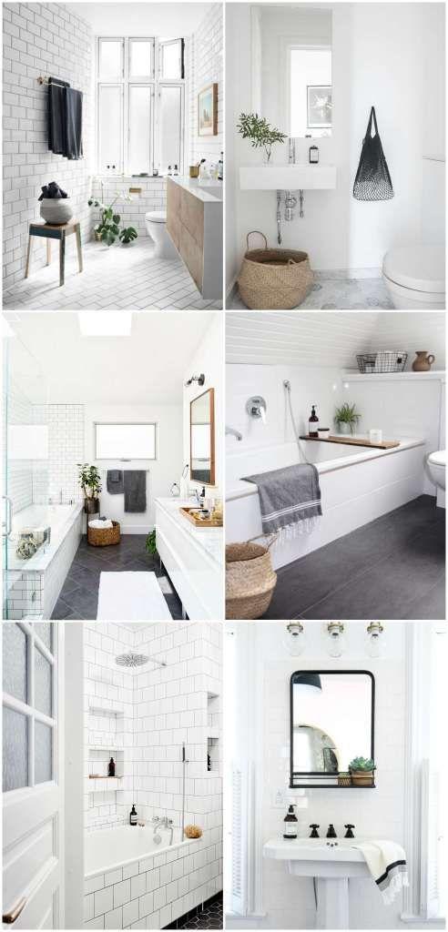 Minimalist and Modern bathroom decor inspiration.