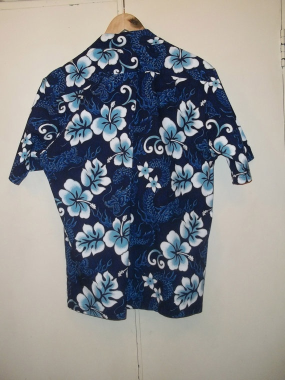 80s 90s Hawaiian shirt DEADSTOCK Hilo Hattie mens button down shirt vintage Hawaii button up shirt mens size Small gift for him NWT zVALmTd9