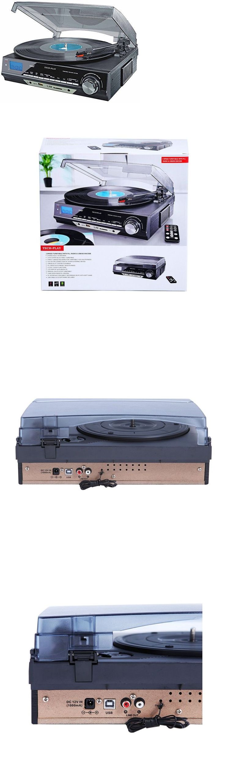Record Players Home Turntables: Home 3-Speed Turntable Record Player Vinyl Usb Sd Mp3 Encoding Am/Fm Radio New BUY IT NOW ONLY: $59.71