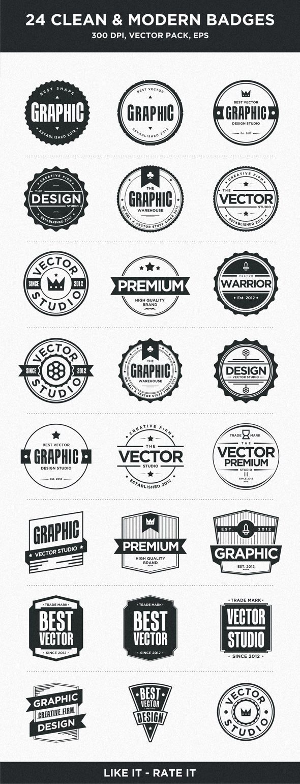 24 Clean Badges by Firman Suci Ananda , via Behance #badges #design #typography #illustration #clean #basic #inspiration