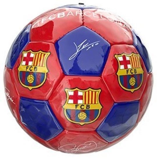 Official FC Barcelona Football Signatures Soccer Ball Player Images #FCBarcelona