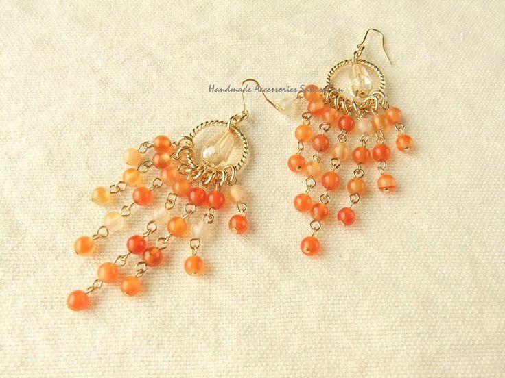 Pierces or Earrings カーネリアン(P0776)