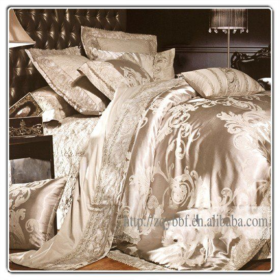 4pcs Luxurious king silk bedding set/duvet cover-in Bedding Sets from Home & Garden on Aliexpress.com