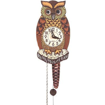 Tree Stands Skirts and Storage 166726: Alexander Taron Black Forest Owl Clock With Moving Eyes -> BUY IT NOW ONLY: $47.35 on eBay!