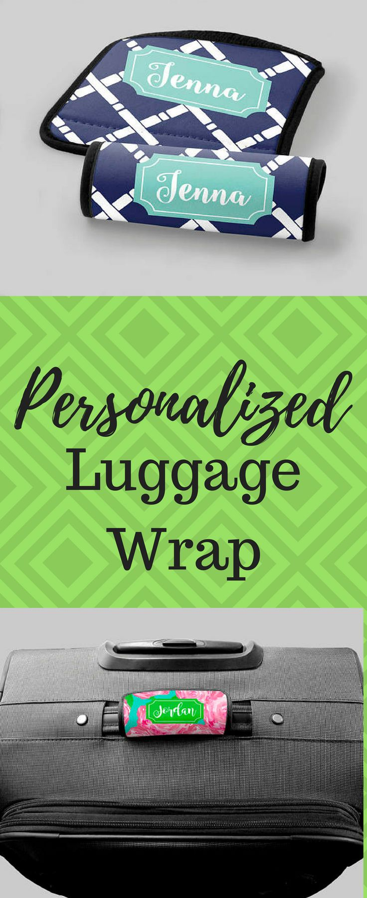 Personalized Luggage Wrap - Navy Bamboo Cross - Luggage Accessories Travel Accessories Gifts for Her Monogrammed Gifts Personalized Gifts #afflink