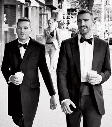 You're going out. To something special. Here's how to wear a tuxedo. Or maybe it's a dark suit. Or even something in between.