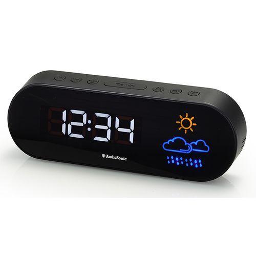 AudioSonic - Radio Réveil Design - Ecran lumineux avec pictogrammes couleurs pour prévision météo CL1489 - pas cher Achat / Vente Réveil - RueDuCommerce