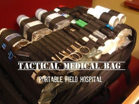 Tactical Medical Bag: Medium-sized Group - YouTube= LOVE this guy