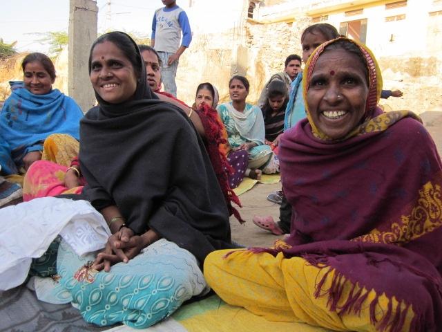 Women smiling. Sadhna. Udaipur.