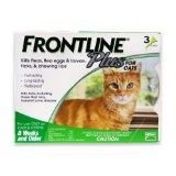 Merial Frontline Plus Flea and Tick Control for Cats and Kittens, 3 Doses, For Cats 8 Weeks and Older (Misc.)By Merial