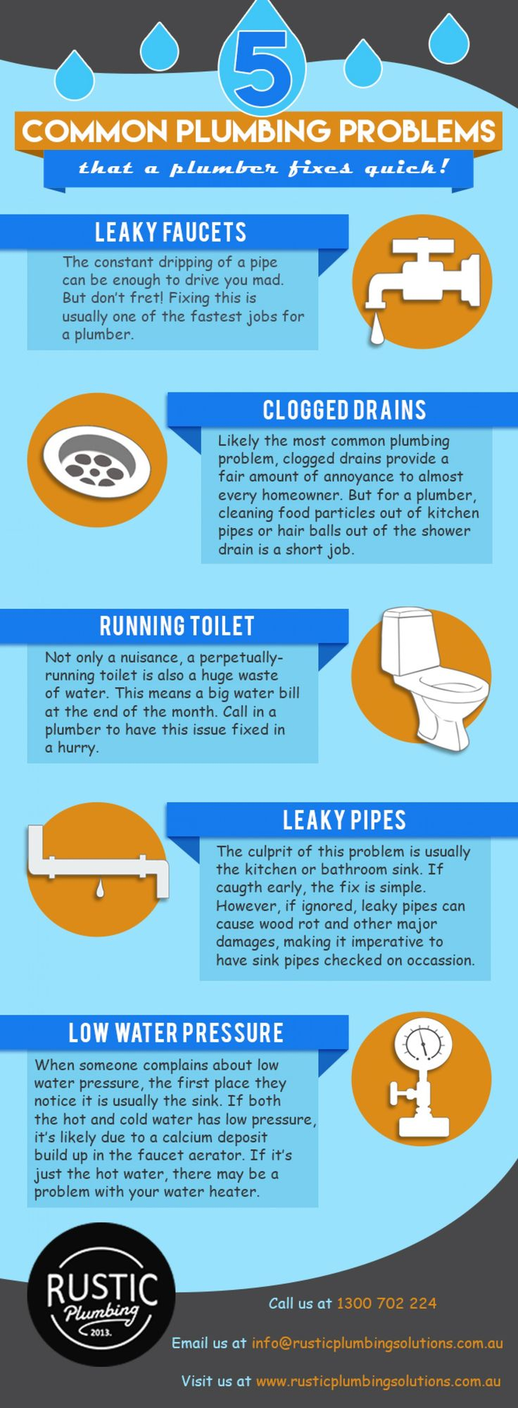 Top 5 Common Plumbing Problems Infographic